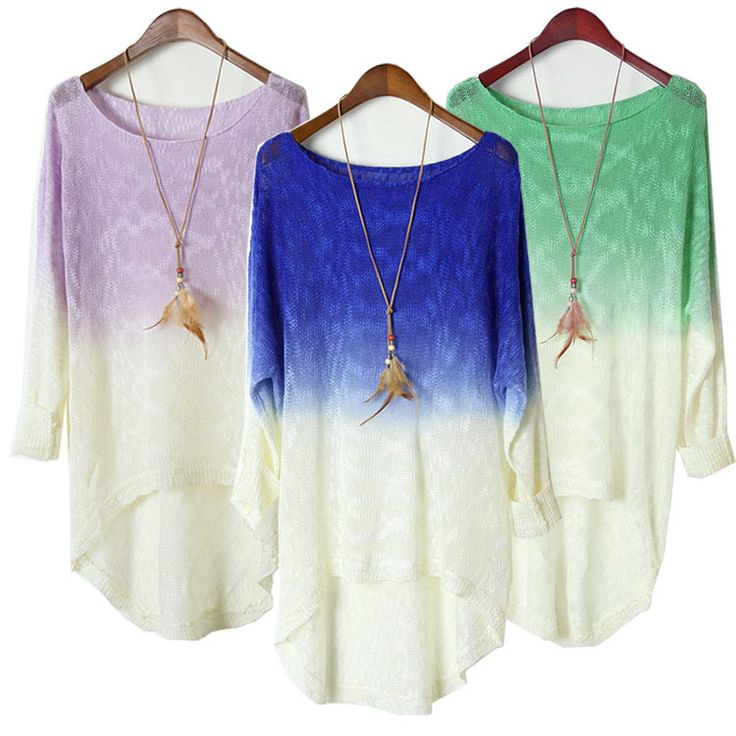 Fashion And Good Quality Casual Batwing Sleeve Loose