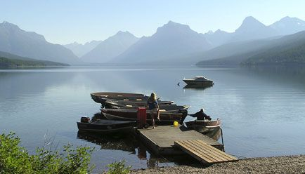 Glacier National Park - We will kayak on this lake someday, honey!