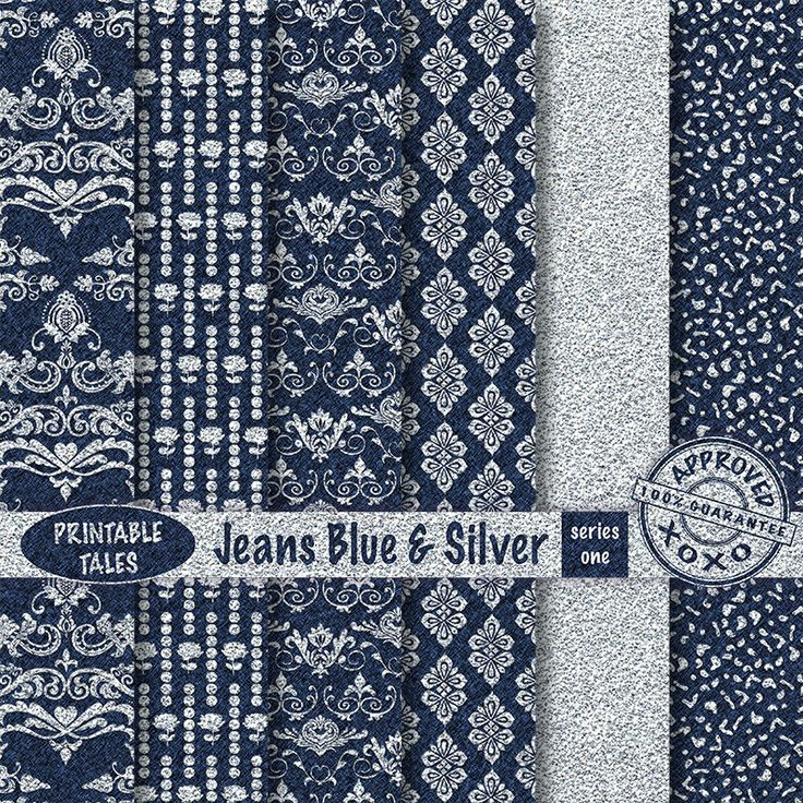 Silver & Jeans Blue Damask digital paper pack Series One Lovely Floral Damask Doves Grapes Jeans Texture Personal + UNLIMITED Commercial use by PrintableTales on Etsy https://www.etsy.com/listing/243106901/silver-jeans-blue-damask-digital-paper