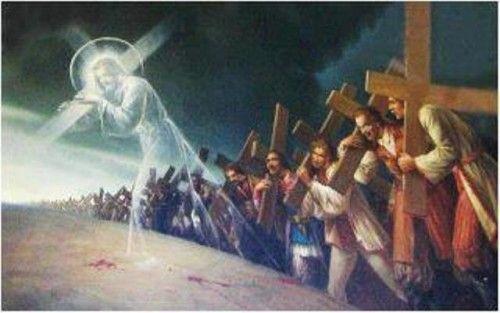 """DIOS ME HABLA HOY: Mateo 10, 34. 11,1  """"El que no toma su cruz y me sigue detrás no es digno de mí"""".  http://es.catholic.net/op/articulos/48682/no-he-venido-a-traer-paz-sino-espada.html"""