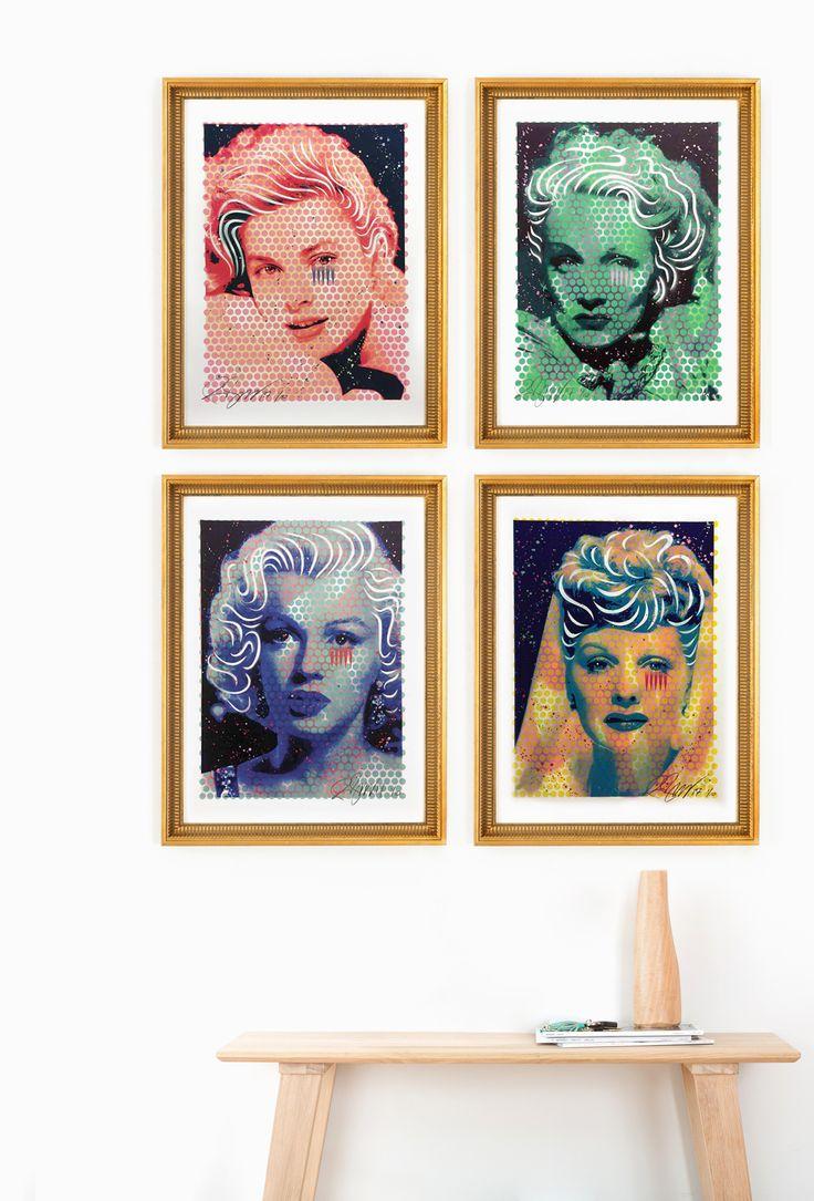 Jagged Tears, Rene Gagnon. Grace Kelly, Lucille Ball, Marlene Dietrich, Marilyn Monroe