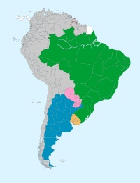 Mercosur or Mercosul ) is an economic and political agreement among Argentina, Brazil, Paraguay and Uruguay. Founded in 1991 by the Treaty of Asunción, which was later amended and updated by the 1994 Treaty of Ouro Preto. Its purpose is to promote free trade and the fluid movement of goods, people, and currency.