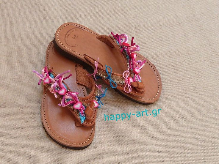 pink and blue sandals for young ladies www.happy-art.gr