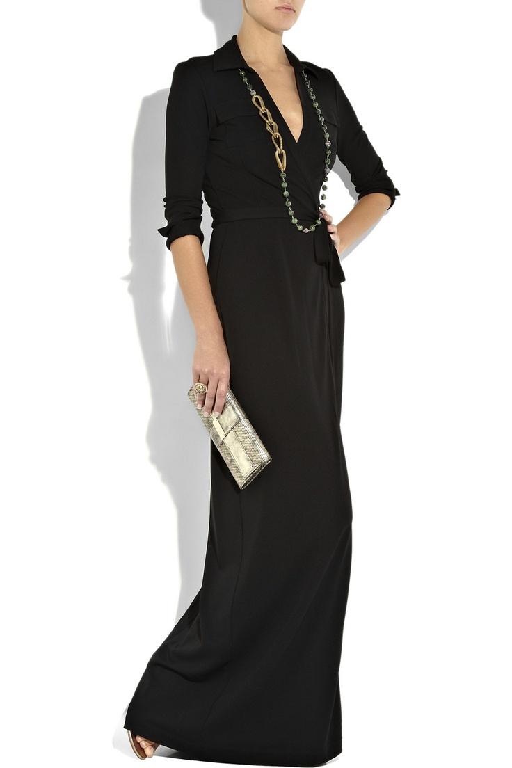 Diane von furstenberg black chloe silk chiffon blouse fashion
