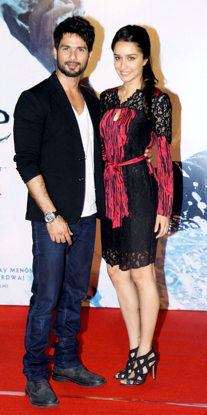 Shahid Kapoor and Shraddha Kapoor at the trailer launch of 'Haider'. #Style #Bollywood #Fashion #Beauty