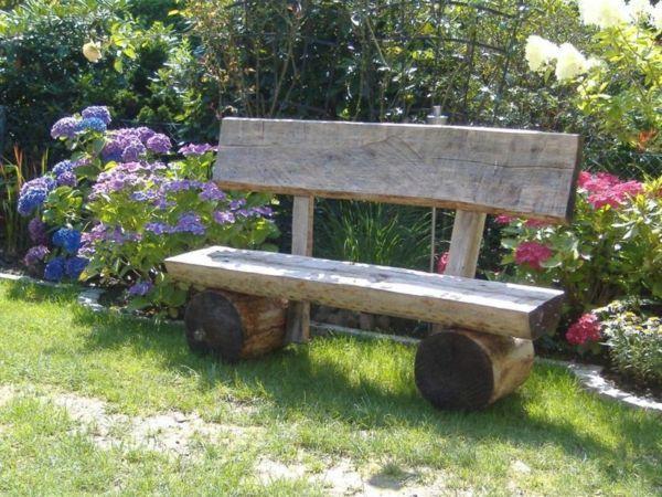 Garden Bench Self Build Tree Trunk Garden Bench Garden