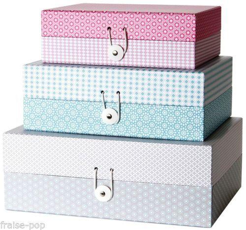 d tails sur boite de rangement en carton design scandinave arlequin losanges present time design. Black Bedroom Furniture Sets. Home Design Ideas