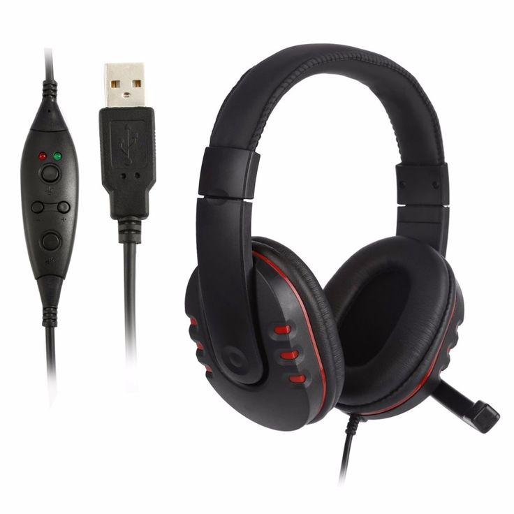 Handsfree Mic Headset Leather USB Wired Stereo Micphone Headphone Gaming Earphones for Sony PS3 PS4 PC Game Laptop Black NEW //Price: $20.18     #instagood