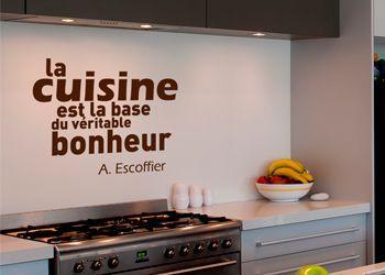 1000 images about d coration murale pour la cuisine on pinterest style tr - Stickers credence cuisine ...
