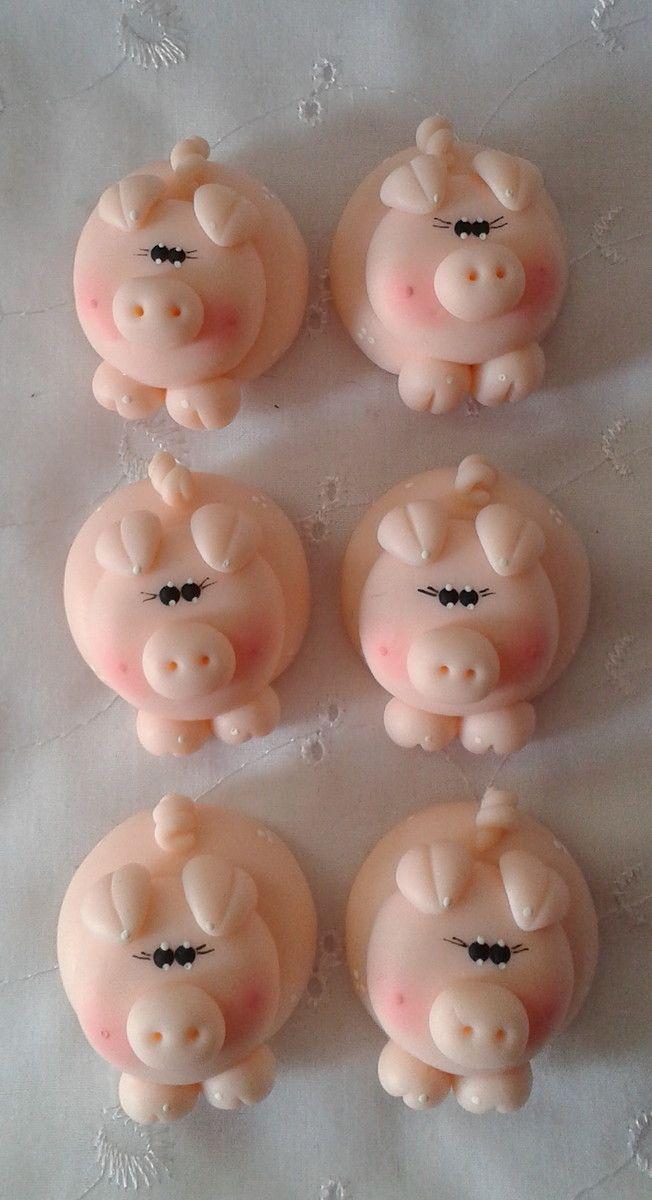 imã de geladeira porquinho  ref 01  rosa bebê  ref 02  azul bebê