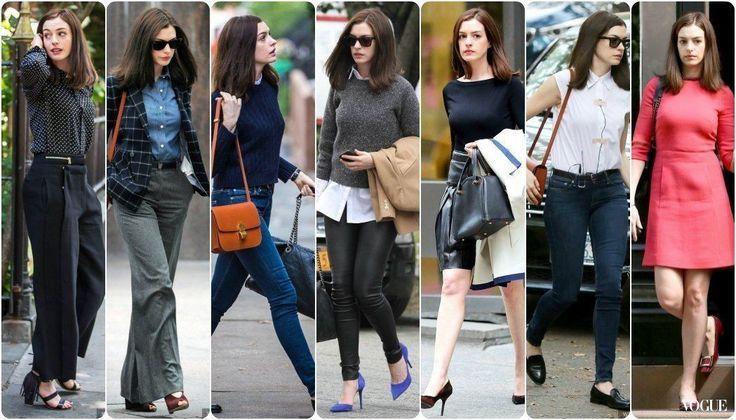 """Achei uma imagem que resume bem, melhor todas as roupas do filme de uma vez. Anne Hathaway - """"the intern"""" (parte V e última)"""