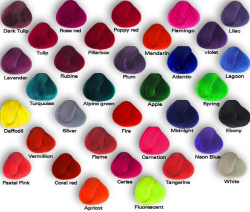 Different colors and their names.