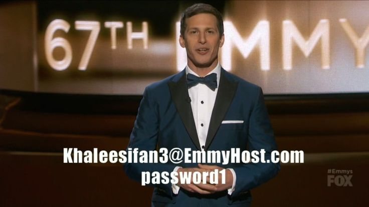 Andy Samberg just gave out a free HBO account at the Emmys - http://www.baindaily.com/andy-samberg-just-gave-out-a-free-hbo-account-at-the-emmys/