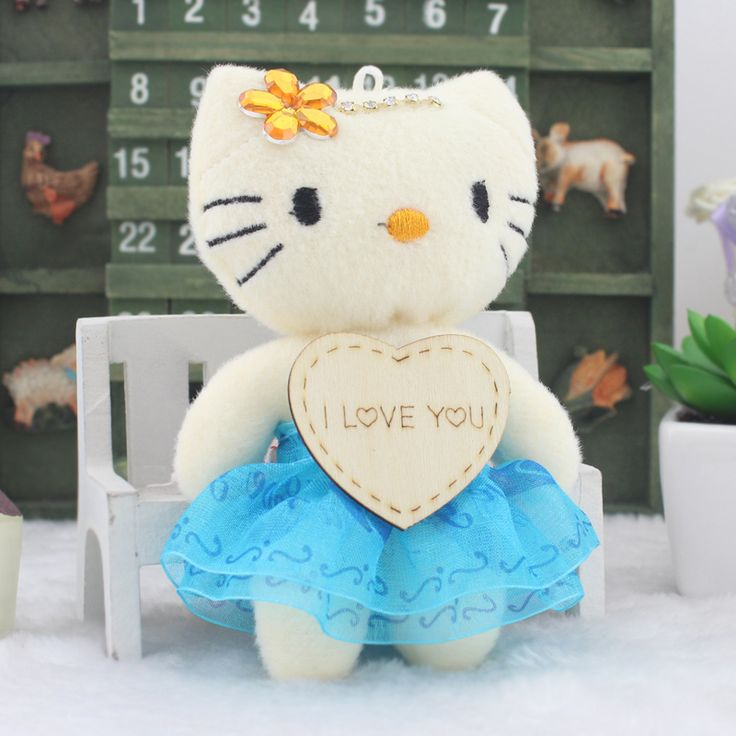 Hot sale H-12cm 12pcs lovely Mini doll kitty cat HELLO KITTY,toys for cartoon bouquet, plush toy cell phone free shipping