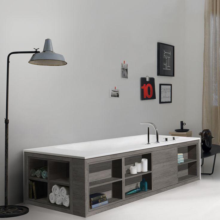 Bathtub Shelving. Best A White Subway Tile Backsplash Holding A ...