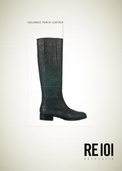 The fusion of Icelandic Label RE101 and German design - sustainable luxery items made from the finest fish skin leather.
