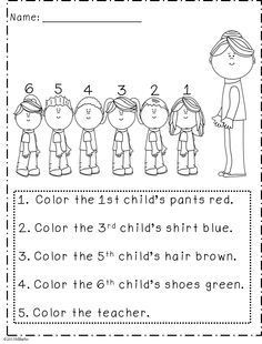following directions activity for first grade - Google Search