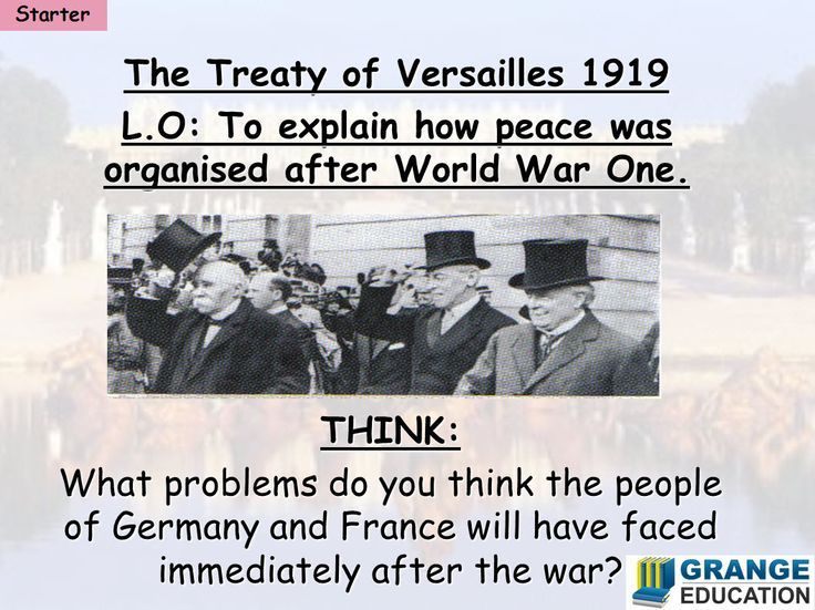 an introduction to the histor of germany after the treaty of versailles 1 the treaty of versailles, drafted in 1919, formally concluded hostilities between the allies and germany 2 germany was not a party to treaty negotiations but was handed peace terms in may 1919, inviting protest.