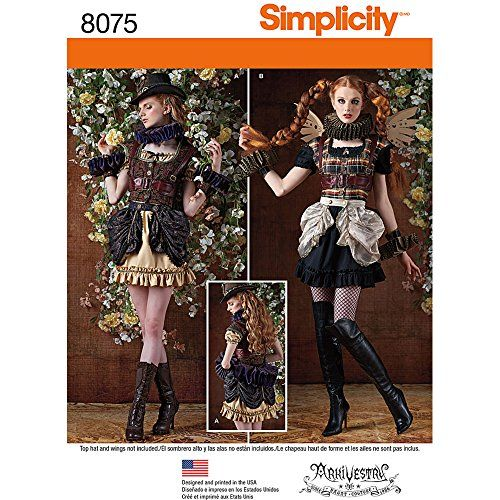 Steampunk - Simplicity 8075R5 Misses Steampunk Costumes Sewing Pattern Paper