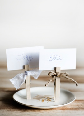 Place Cards but for family pics for table center pieces