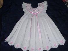 Vestido de ni?a tejido en crochet   Aprender manualidades es facilisimo.com