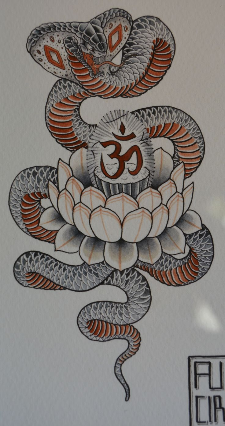 Henry Gae Cobra Tattoo Flash | KYSA #ink #design #tattoo