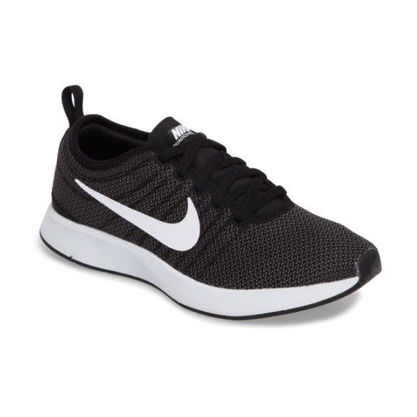 Women's Nike Dualtone Racer Running Shoe ($90) ❤ liked on Polyvore featuring shoes, athletic shoes, shock absorbing shoes, light weight running shoes, nike footwear, mesh athletic shoes and breathable running shoes