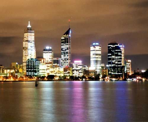 The city from South Perth