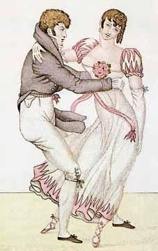 Sorry, Sir Thomas, but she's just not that into you... (Regency Era Fashion/Dancing Plate)