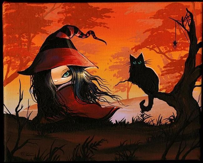 Art 'Little Witch Out Walking' - by Nico Niemi from witches