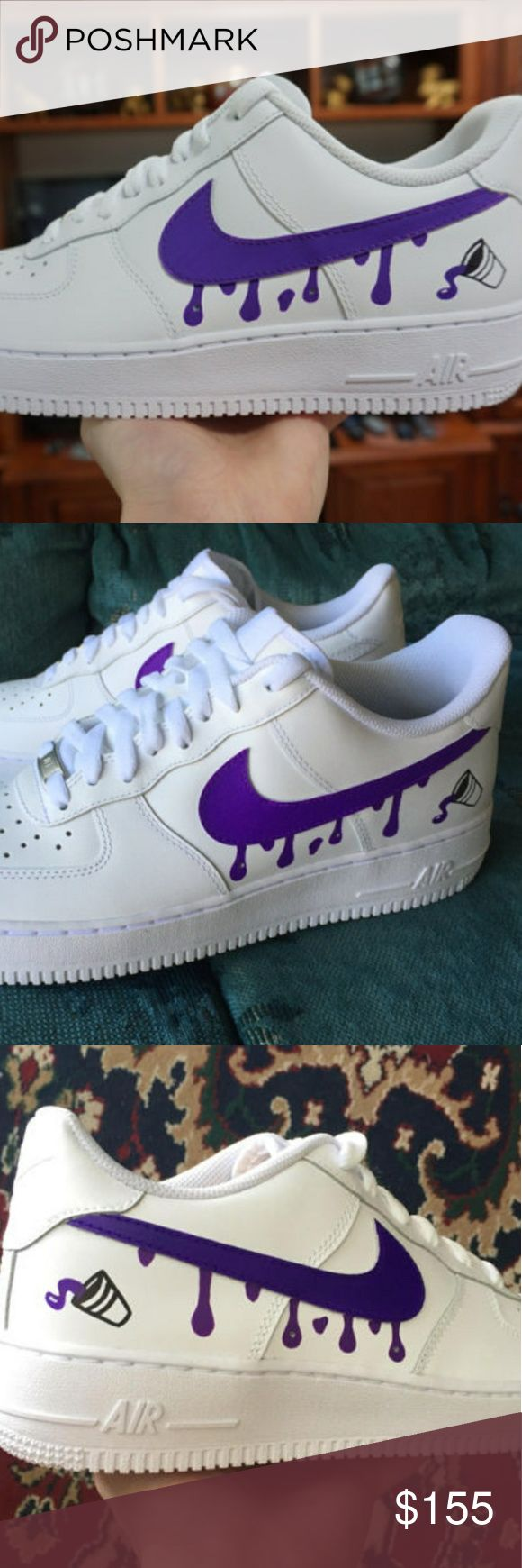 Nike air force one custom drippy Nike air force one lean  custom brand new with box Nike Shoes Sneakers