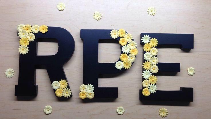 Decorated sorority letters idea