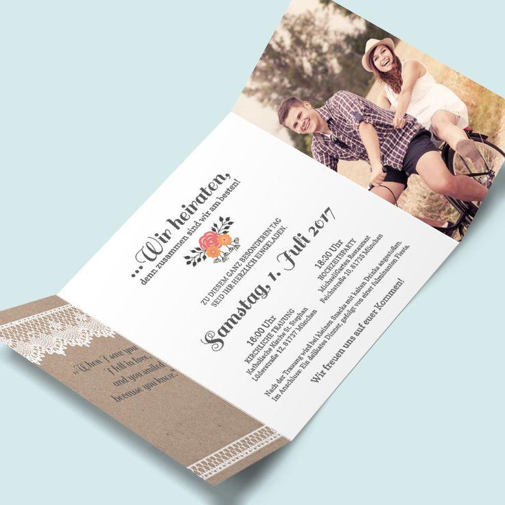 25+ best ideas about einladungskarten hochzeit selbst gestalten on, Einladung
