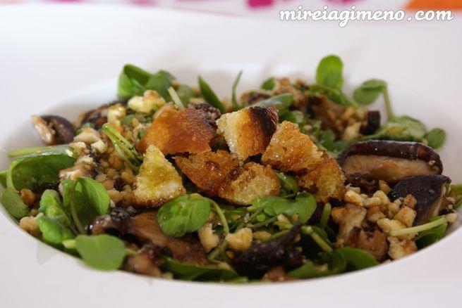 Ensalada de berros y shiitakes http://www.mireiagimeno.com/recetas/ensalada-de-berros-y-shiitakes