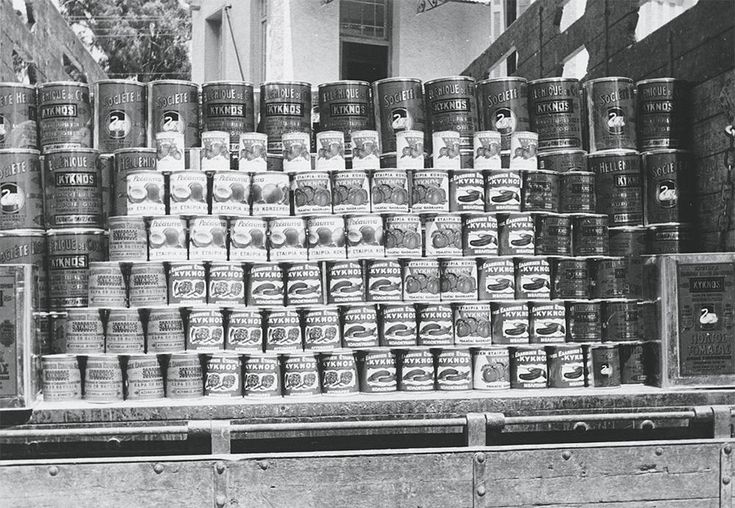 Canned products from the first decades of the the canning industry KYKNOS.