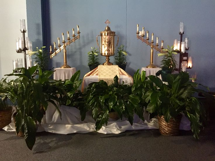 Altar of Repose at St. Benedict's ready for Holy Thursday