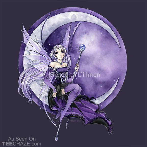 Purple Moon Gothic Anime Fairy T-Shirt  #TeeCraze