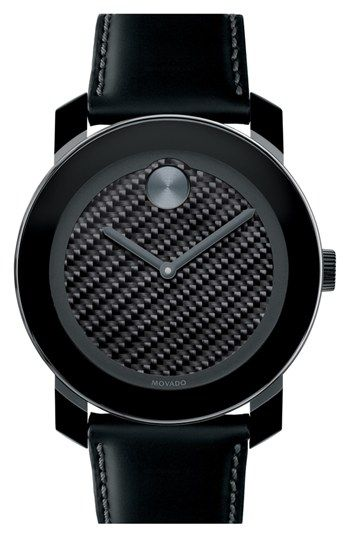Movado 'Bold' Carbon Fiber Dial Watch, 42mm | Nordstrom