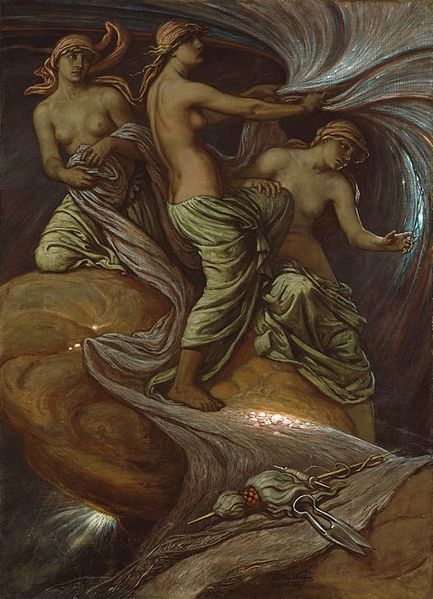 Elihu Vedder - The Fates Gathering in the Stars -  1887