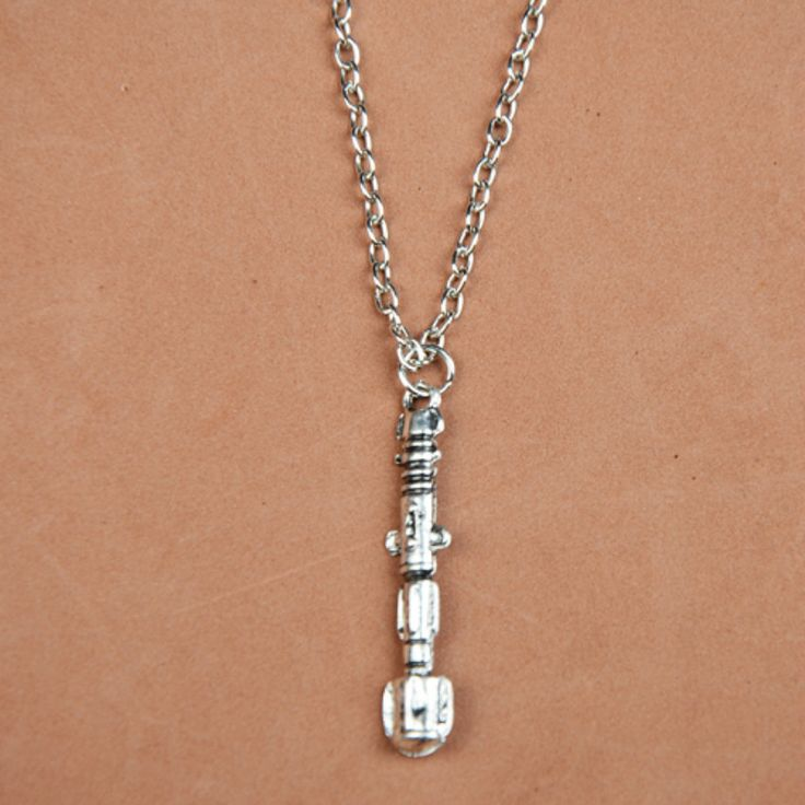 Fashion Creative Necklace Doctor Who Sonic Screwdriver Tardis Necklaces Sweater Chain  Men Necklace