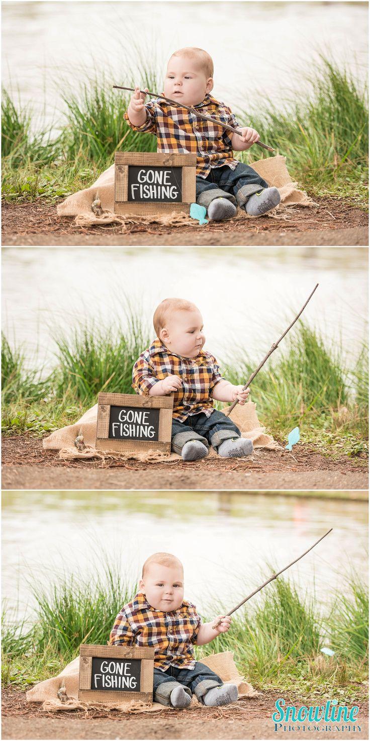 Babyfotos, 6 Monate alt, angeln gegangen. www.snowlinephoto …