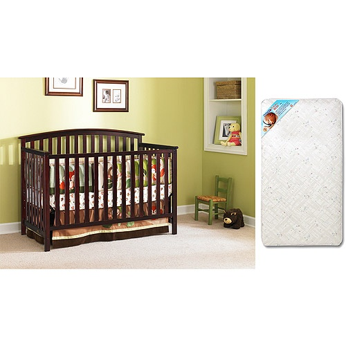 Graco Freeport 4-in-1 Fixed-Side Crib in Classic Cherry ...
