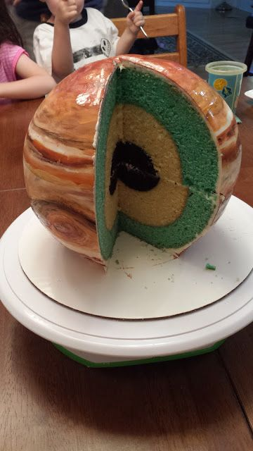 Planet Jupiter Cake (Spherical Concentric Layer cake)