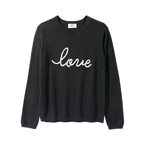 Buy hush Love Jumper, Charcoal Marl/ White Online at johnlewis.com