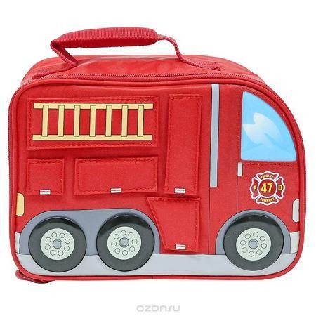 """Сумка-термос Lunch Kit """"Firetruck"""" для ланча, детская, цвет: красный  — 1078р.  Детская сумка-термос Lunch Kit """"Firetruck"""" предназначена для транспортировки и хранения продуктов питания (напитки, овощи, фрукты, мясные и рыбные продукты, готовая кулинария, выпечка и т.д.), косметических средств, чувствительных к температуре препаратов, аксессуаров по уходу за детьми и детского питания, предметов электронной техники в режимах тепло (до + 50°С) или холод (до - 20°С). Сумка-термос изготовлена с…"""