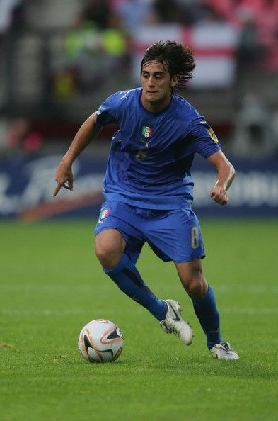 Alberto Aquilani of Italy in action during the UEFA European Under-21 Championships, Olympic Play-off match between Portugal U21 and Italy U21 at the Goffert Stadium on June 21, 2007 in Nijmegen, Netherlands.
