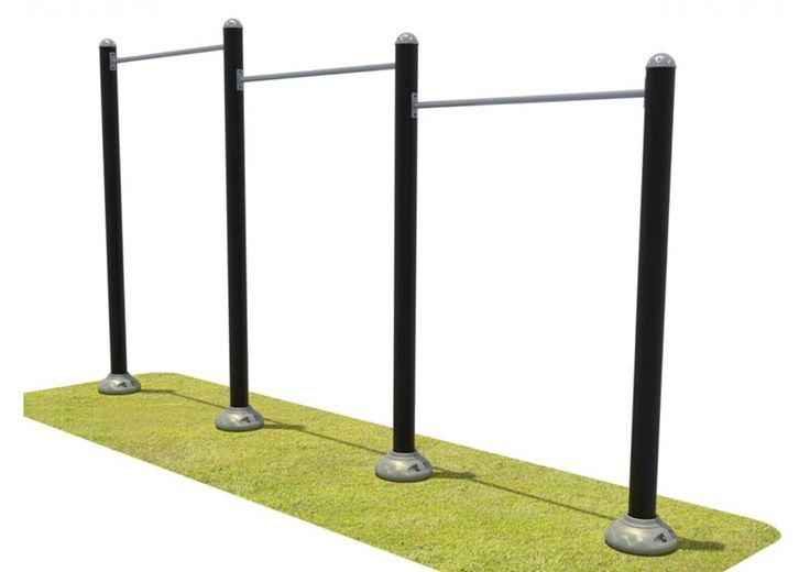 Noahs Park and Playgrounds - Triple Station Inclined Chin-Up Bars, Tone up your arms! Our Triple Station Inclined Chin-Up Bars will do just that! Each bar varies in height to accommodate everyone! Its galvanized finish ensures protection from the outdoor weather condidtions. (http://www.noahsplay.com/playground-equipment-needs/developer/triple-station-inclined-chin-up-bars/)