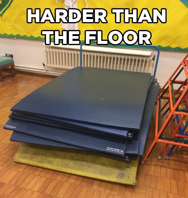 """And that there was no lie greater than these """"crash mats"""". 