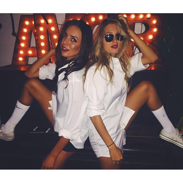 Risky Business Halloween costume (model Paige Watkins)