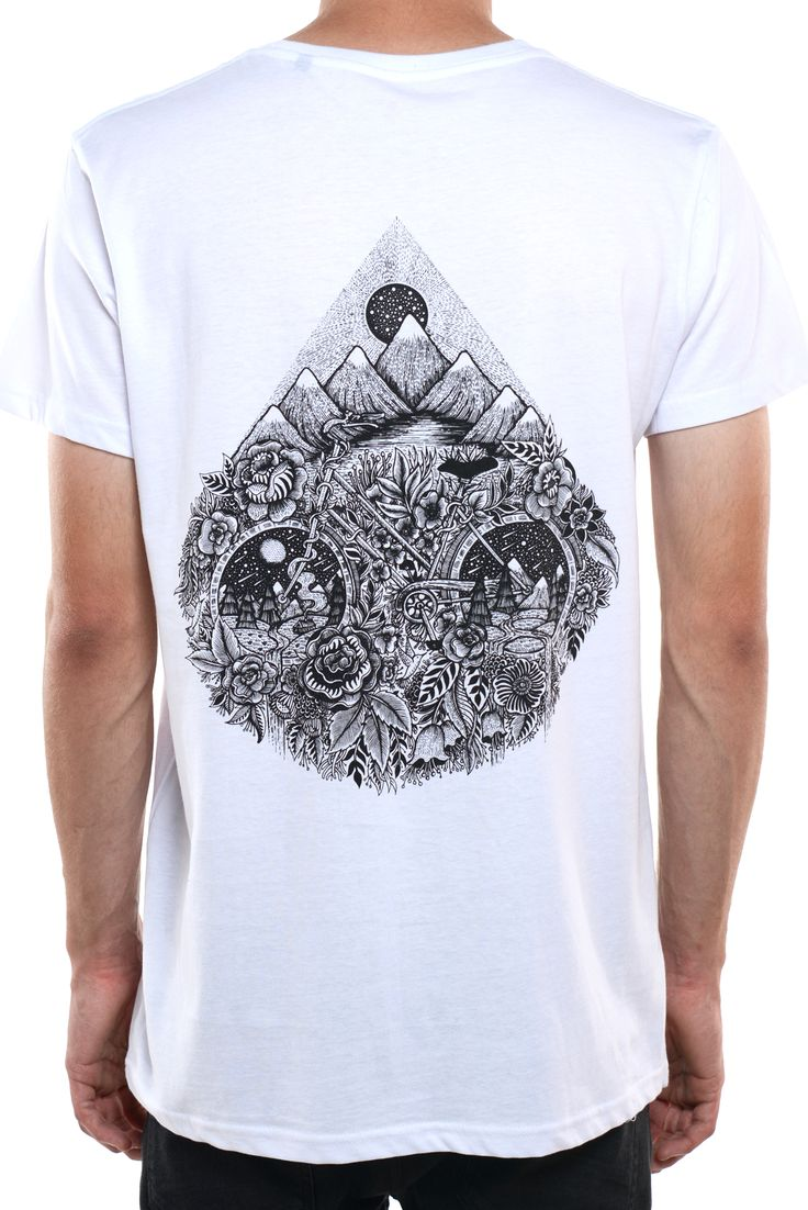 A Ride to Nature Tee by Menis Art